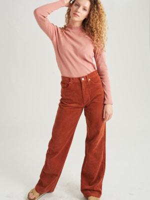 24 Colours Corduroy pants brown