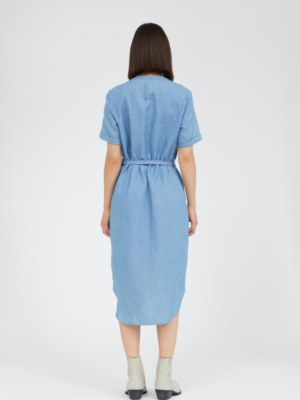 Armedangels dress Maare foggy blue