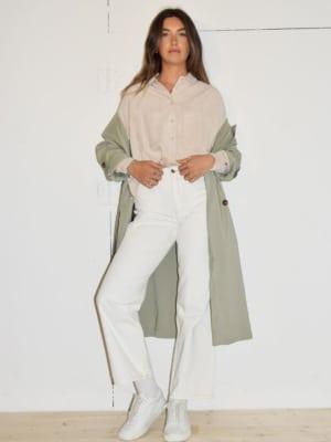 Trench coat light green