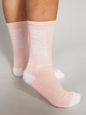Girls are Awesome Socks Kinda Sporty pink