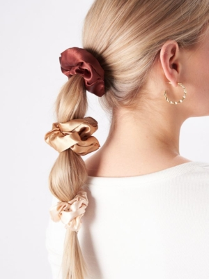 24 Colors Scrunchie 3-pack nude