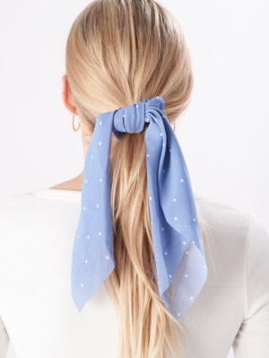 24 Colours Scrunchie hellblau