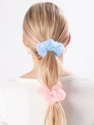 24 Colours Scrunchie 2er Pack hellblau rosa