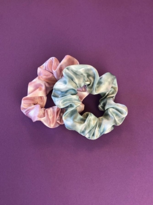24 Colors Scrunchie 2-pack green pink