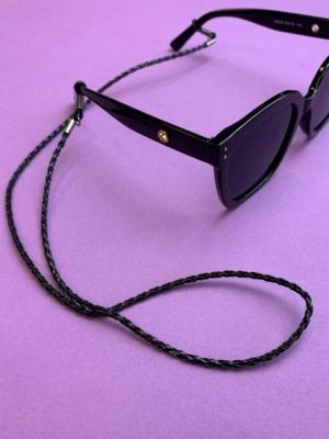 24 colors sunglasses chain black