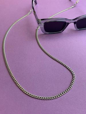 24 colors sunglasses chain silver