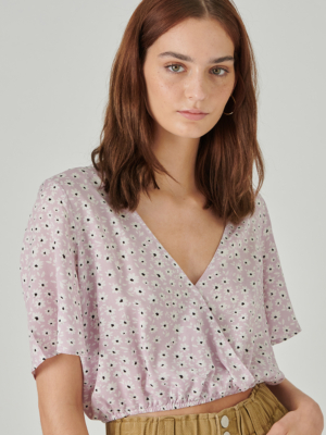 24 Colors blouse with flowers lilac