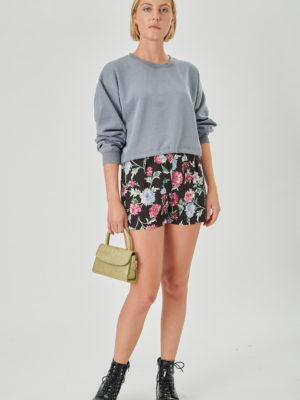 24 colors shorts black with flowers