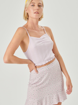 24 colors skirt with flowers lilac