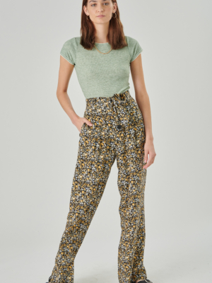 24 colors trousers flowered black