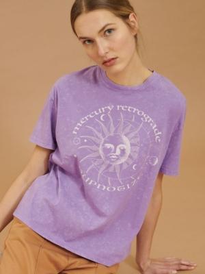 24 Colors T-shirt with sun print purple