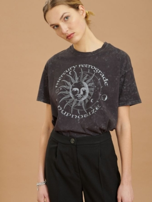 24 Colors T-shirt with sun print anthracite