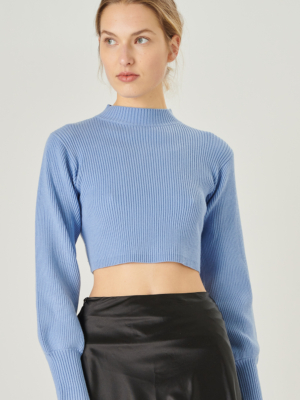24 colors knitted sweater light blue