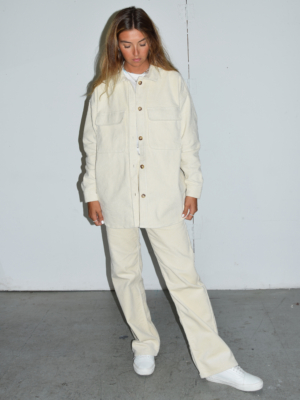 Dr Denim Echo corduroy pants off white