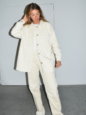 Dr Denim cord shirt Mona off white