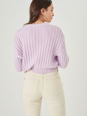 24 colors cardigan with buttons lilac lilac