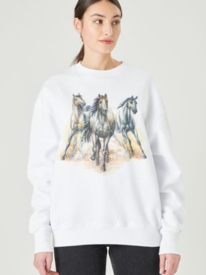24 Colours Sweater weiss