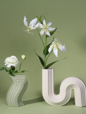 Keramikvase im Nordischen Desgin hellgrün