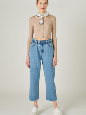 24 Colors Mom Jeans blue